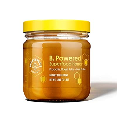 BEEKEEPER'S NATURALS B.Powered - Fuel Your Body & Mind, Helps with Immune Support, Mental Clarity, Enhanced Energy & Athletic performance - Propolis, Royal Jelly, Bee Pollen, Honey (4.4 oz)