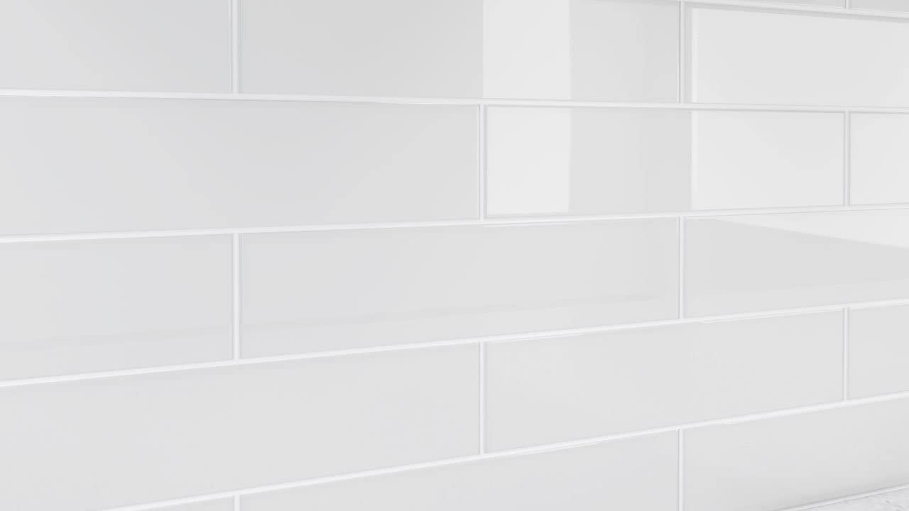 Pure White Glass Tile For Showers And Kitchens By Bodesi 3x12 Amazon Com