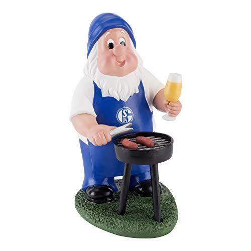 FC Schalke 04 Grill Gartenzwerg, Zwerg, Garden gnom S04 - Plus Lesezeichen I Love Gelsenkirchen