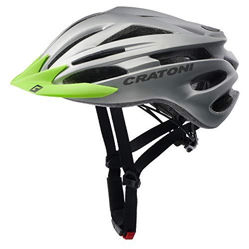 Sonderedition Cratoni Pacer Fahrradhelm Mountainbike Allround Helme (anthrazit Visier Lime, L-XL (58-62 cm))