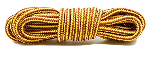 FootGalaxy Gold and Tan Boot Laces, 36 inch