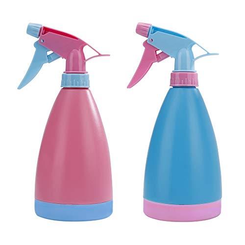 Spray Bottle Spruzzino Nebulizzatore per Piante e Fiori in Plastica Salon Spray Bottiglia Acqua per Giardino Barbiere Parrucchiere 2Pcs