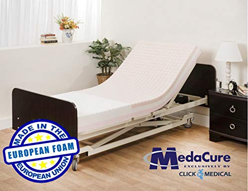 """Pressure Redistribution Bariatric Foam Hospital Bed Mattress - 3 Layered Visco Elastic Memory Foam - Ultra Wide, 80"""" x 48"""" x 6"""" - Hospital Grade Nylon Cover Included - by Medacure"""