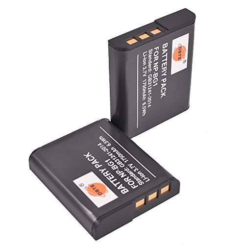 DSTE 2-Pack Ersatz Batterie Akku for Sony NP-BG1 NP-FG1 Cyber-shot DSC-H3 DSC-H7 DSC-H9 DSC-H10 DSC-H20 DSC-H50 DSC-H55 DSC-H70 DSC-H90 DSC-HX5V DSC-HX7V DSC-HX9V DSC-HX10V DSC-HX20V DSC-HX30V Kamera