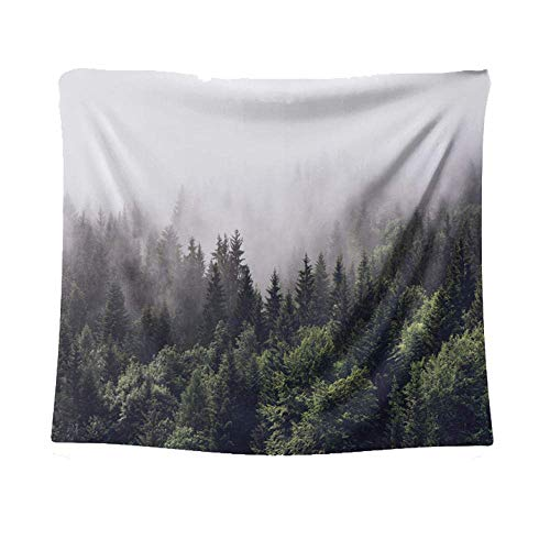 Tapices Paisaje de la nube del bosque tapiz colgante de la pared Decoración de la pared Paño de la pared Decoración del hogar Yoga Manta de la manta de la playa Paño de fondo, M / 130x150cm (51 'x59')