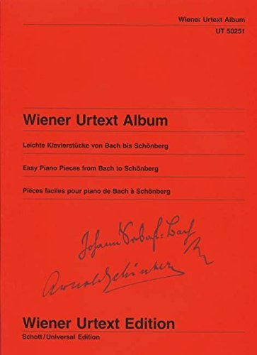 Wiener Urtext Album: Leichte Klavierstücke von Bach bis Schönberg. Klavier. (Wiener Urtext Edition) by WIENER URTEXT (2005-11-09)