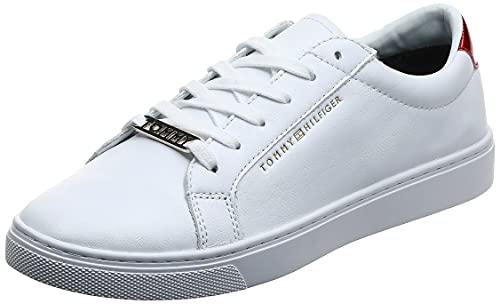 Tommy Hilfiger Essential Sneaker, Scarpe da Ginnastica Basse Donna, Bianco (RWB 020), 39 EU