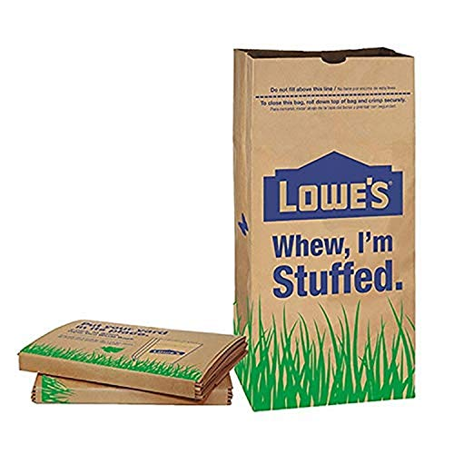 Purchase Lowes LF Lowes 30 Gallon Paper Lawn Leaf Trash Bags (10 Bags), Lava Heavy Duty Gardening Ha...