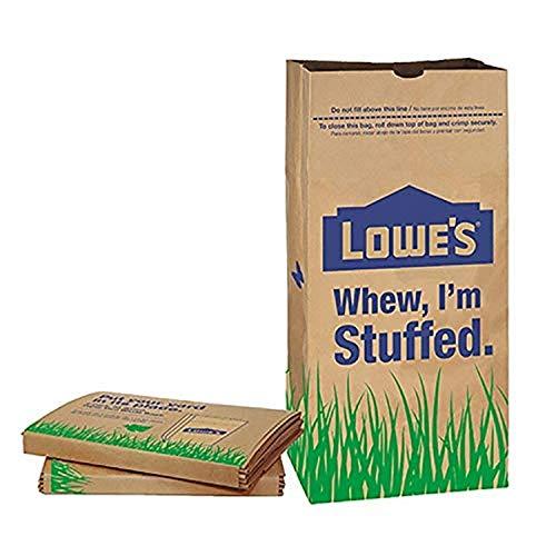 Purchase Lowes LF Lowes 30 Gallon Paper Lawn Leaf Trash Bags (10 Bags), Lava Heavy Duty Gardening Ha...