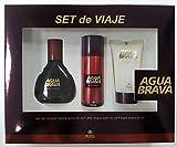Agua Brava Set de Viaje Eau de Cologne Spray 50 ml + After Shave Bálsamo 50 ml + Espuma Afeitar 50 ml