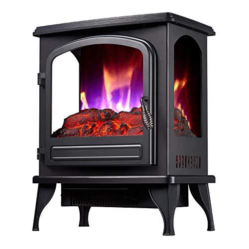 AY Kamine 2KW Elektro-Kaminofen Raumheizung, 2 Heizstufen, Stufenlose Temperaturregelung, DREI Seiten Realistische 3D-Flamme Und Leiser Lüfter - 41 * 25 * 52 cm