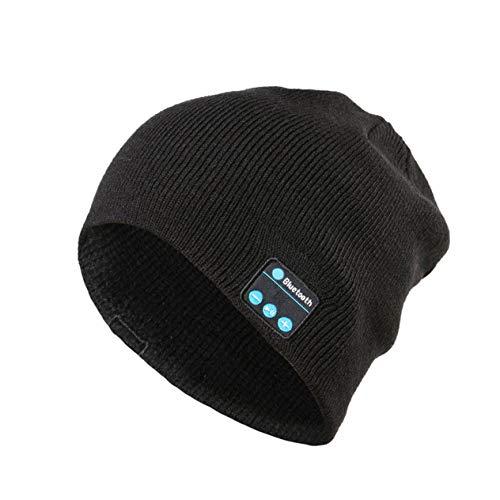 Preisvergleich Produktbild IronHeel Drahtlose Musik Hut Universal Smart Caps Winter Warme Mützen Strickmütze Mit Lautsprecher Mikrofon für Outdoor Sports - Schwarz