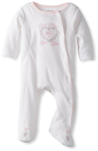 Little Me Baby Girl Newborn Thank Heaven Footie, Pink, 9 Months