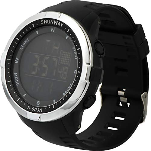 ABOOFAN 1pc Moda Impermeable Reloj Electrónico Luminoso Reloj Deportivo (Negro)