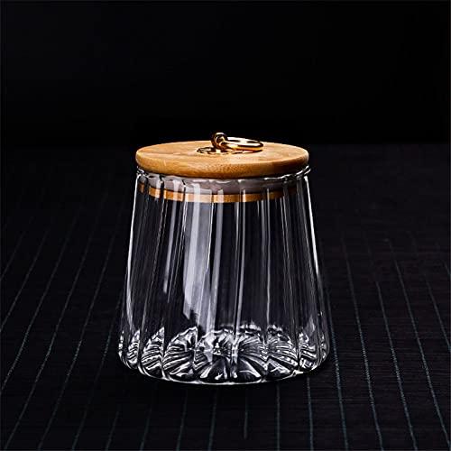 XIN NA RUI Bote Cristal Cristal de cristal Almacenamiento Almacenamiento Botellas de almacenamiento Botellas de vidrio Jarrón sellado latas con taza de té de té de vidrio Flor de té Treaje Tarrar Tarr
