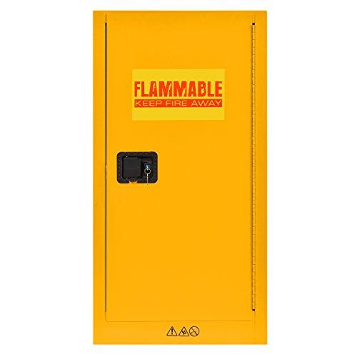 Sandusky Lee SC16F Flammable Liquid Storage Cabinet in Yellow, 44' Height, 23' Width, 18' Length
