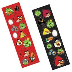 Angry Birds Sticker Strip | Party Favor | 8 Ct.