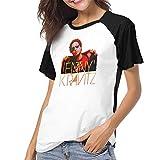 Photo de Casual Base-Ball T-Shirt Raglan Jersey Tee for Les Femmes Lenny Kravitz