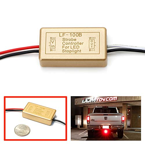 iJDMTOY (1) 12V LF-100B LED Brake Stop Light Continuously Pulsing Strobe Flash Module Controller Box Compatible With Car Motorcycle, etc