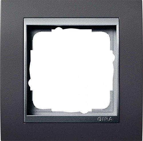 Gira Rahmen 021181 1fach + ZR Alu Event, Aluminium, Anthrazit