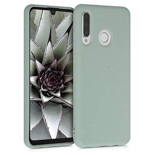 kalibri Cover Compatibile con Huawei P30 Lite - Custodia 100% Paglia - Back Case Soft Eco-Friendly Matt Anti-Impronte - Menta