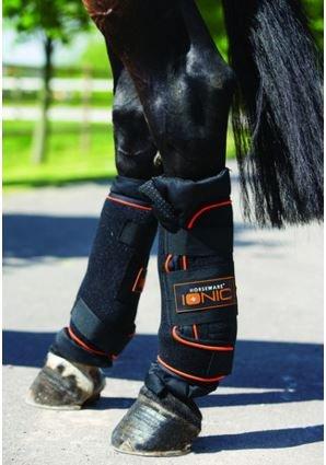 Horseware Rambo Ionic Wraps schwarz wählbare Größe (Full (40cmx55cm))
