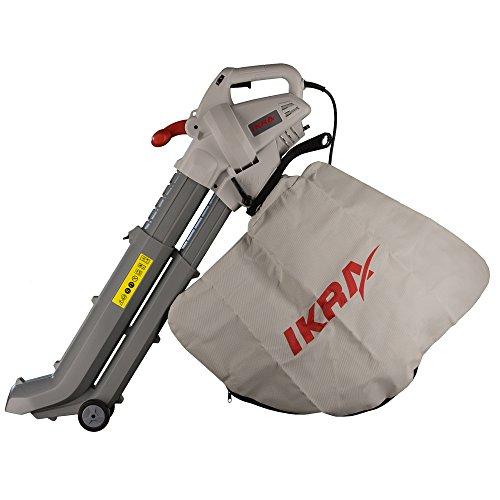 IKRA 74204030 3in1 aspiratore soffiatore trituratore elettrici IBV 2800 E, incl. Sacco Raccoglitore 45l, velocità di soffiaggio 275 km/h, 2.800W