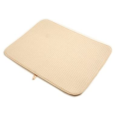 Norpro 24 by 18-Inch Microfiber Dish Drying Mat, Cream