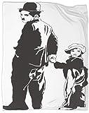 SSKJTC Manta Silence Charlie Chaplin para tumbonas y lectura, reclinable, 100 x 130 cm