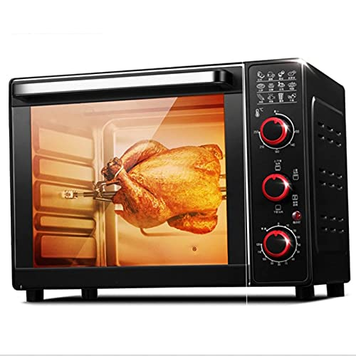 Toaster Oven 33L, Mini Electric Oven Multi-function Stainless Steel Finish With Timer - Toast - Bake - Broil Settings, Natural Convection - 1600 Watts Of Power, Includes Baking Pan And Rack air
