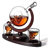 Cráneo Vino Contenedor 850ml, contenedor de vino Copa de cráneo Globe Skull Bones Botella de vino de vidrio Vodka Vidrio Artesanía Botella de vino para Familia, Oficina, Restaurante Decoración Licorer