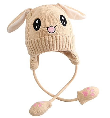 berretto orecchie mobili Lelesta Berretto Invernale Caldo e Spesso in Peluche per Bambini da 1 a 10 Anni