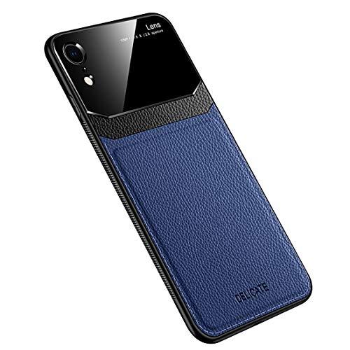 Funda Compatible con iPhone XR, Carcasa Ultra Delgado De Piel PU y Suave TPU Cover Case Carcasa para iPhone XR, Azul