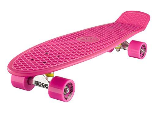 Ridge Skateboard Big Brother Nickel 69 cm Mini Cruiser, rosa/rosa