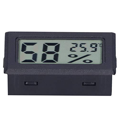 Termómetro digital ABS Termómetro de pantalla interior FY11001 Dispositivo de medición de temperatura con pantalla LCD(negro)