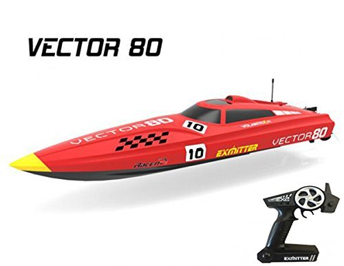 FMTStore 2.4Ghz Radio Control Control Vector 80 (cm) Super High Speed Race Boat ABS Unibody RC ARTR w/ESC Brushless Motor v798-1