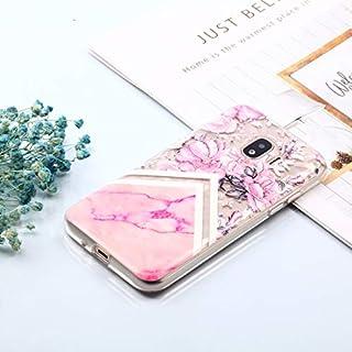 携帯電話アクセサリー Galaxy J2 Pro(2018)用ダイヤモンドテクスチャオイルエンボスTPUケース 電話用 (Color : Color5)