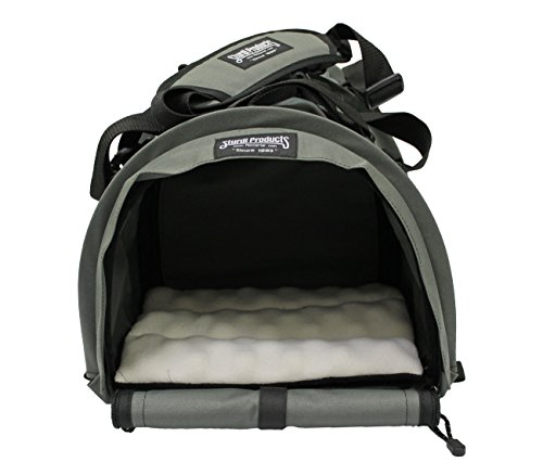 STURDI PRODUCTS Bag Double Sided Divided Pet Carrier, Large, Smoke