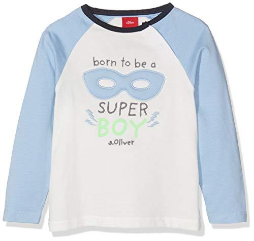 s.Oliver Baby-Jungen 65.908.31.8649 Langarmshirt, Blau (Blue 5312), (Herstellergröße: 92)