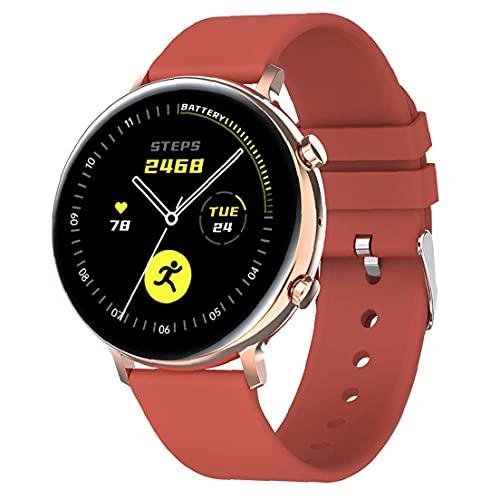 Hainice Llamadas Inteligente Aptitud del Reloj del perseguidor Impermeable de la Venda Inteligente GW33 Bluetooth Pulsera Deportes SmartWatch Hombres Mujeres Rojo