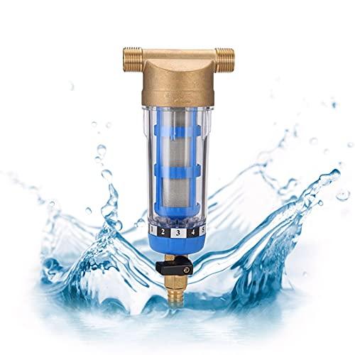 Filtro de agua reutilizable, filtro de agua de división en pulgadas, grifo de agua, rosca exterior, filtro de prefiltro de agua para estanqueidad de manguera de pozo (3/4 pulgadas)