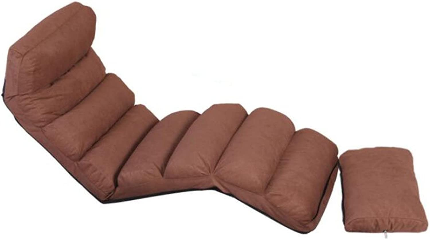 Lanrenshafa Lazy Couch Tatami Bed Chair Foldable Sofa Floor Small Sofa Recliner (color   Brown, Size   170  58cm)