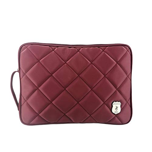 California Polo Club Swallow Unisex Synthetic Leather Labtop Case Cover Compatible with 11 12 13 inch Macbook Pro, Macbook Air, Note book Computer (Burgundy Satin)