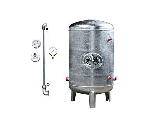 Druckbehälter 100 150 200 300 500 L 6 bar senkrecht mit Zubehör verzinkt Druckkessel für Hauswasserwerk senkrecht stehend (300 L)