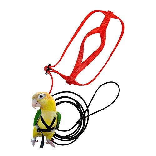 Naliovker ArnéS y Correa para PáJaros para Mascotas, Correa y ArnéS Ajustable para PáJaros Loro - Cuerda para Entrenamiento contra Mordeduras para Mascotas ArnéS y Correa (XS)
