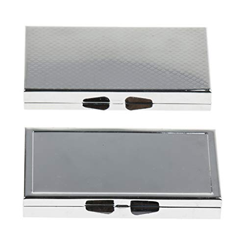 2pcs Metall Pillendose Tablettenbox Pillenbox Tablettendose - 7 Slots