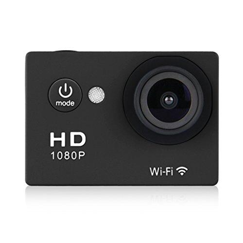 WIFI Y8 Action Sport Cam Waterproof Impermeabile Full HD H264 1080p 12Mp Video Helmetcam Videocamera Subacquea (Nero)