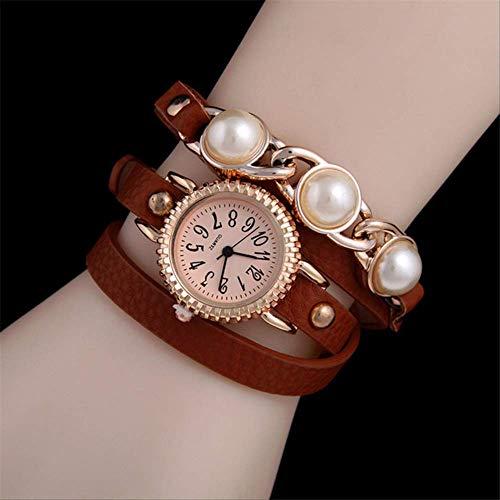 WLKVUOT vrouwen kwartshorloges mode horloges lederen band kwartshorloge