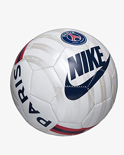 Nike Paris Saint-Germain Skills Soccer B Balones de fútbol de Entrenamiento, Unisex-Adult, White/Metallic Silver/Midnight Navy, 1