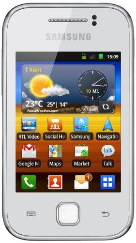 Samsung Galaxy Y S5360 Smartphone (7,62 cm (3 Zoll) Bildschirm, Touchscreen, 2 Megapixel Kamera, Android 2.3) pure-white